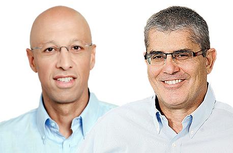 """מנכ"""":ל פרטנר חיים רומנו (מימין) ומנכ""""ל הוט אילן צחי, צילום: אוראל כהן"""