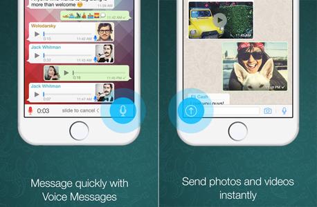 ווטסאפ אייפון iOS שיחות קוליות