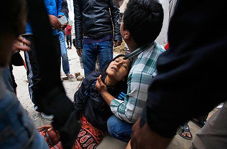 רעש אדמה ב נפאל רעידת אדמה קטמנדו , צילום: אי פיי