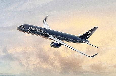 טרמפ על מטוס פרטי, צילום: Four Seasons