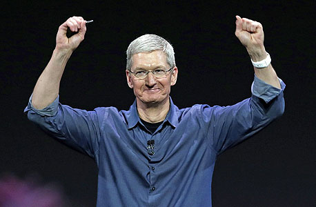 """טים קוק מנכ""""ל אפל 2015, צילום: איי פי"""