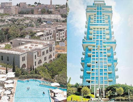 """מגדל אקירוב בצפון תל אביב (מימין), ופרויקט ממילא בירושלים (משמאל). """"לא חיפשתי הזדמנויות, חיפשתי פרויקטים גדולים ומשמעותיים"""""""