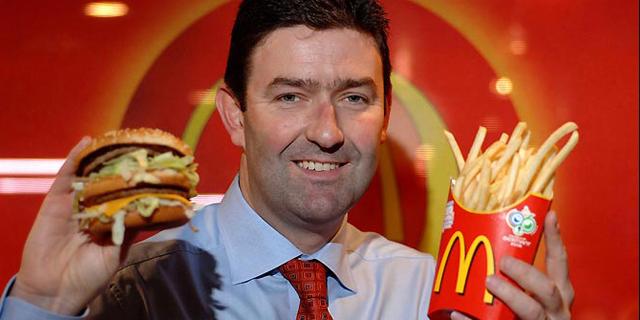 """מנכ""""ל מקדונלד'ס סטיב איסטרברוק, צילום: מקדונלד'ס"""