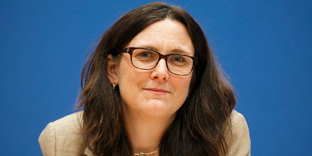 """ססיליה מאלמסטורם, יו""""ר ועדת המסחר באיחוד האירופי , צילום: אימג"""
