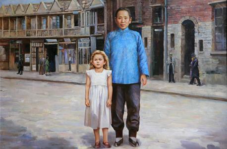ילדה יהודייה בשנגחאי. סין לחמה ביפן, אך ההגירה אליה היתה קלה יחסית