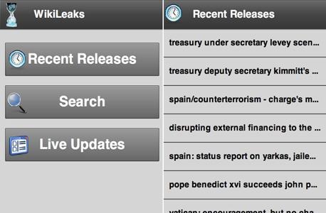 אפליקציות אנדרואיד wikileaks