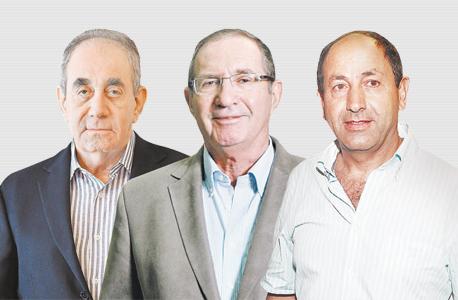 מימין רמי לוי ו דן פרופר ו אלפרד אקירוב, צילום: אוראל כהן, עמית שעל, עטא עוויסאת