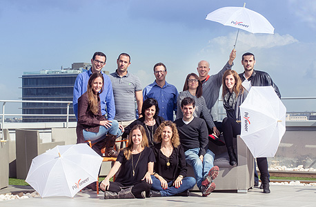 Payoneer's founding team in 2015. Photo: Tommy Harpaz