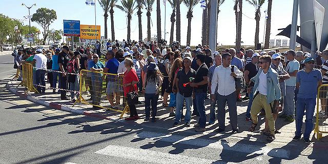 ההפגנה בדימונה, היום, צילום: ישראל יוסף