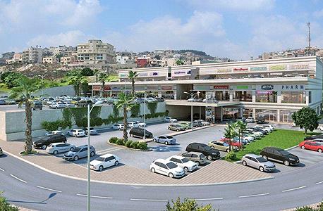 הדמיית המרכז המסחרי שייבנה באום אל פאחם