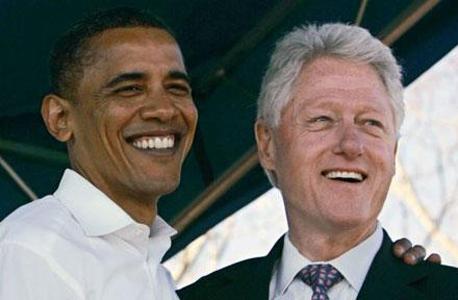 מימין ביל קלינטון ו ברק אובמה, צילום: capitolcommentary.com