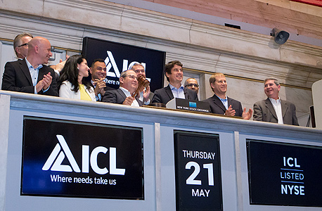 "מימין מנכ""ל כיל סטפן בורגס ו היו""ר ניר גלעד, צילום: NYSE/Amy Sims"