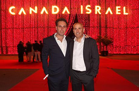 מימין אסי טוכנאייר וברק רוזן בעלי קנדה ישראל