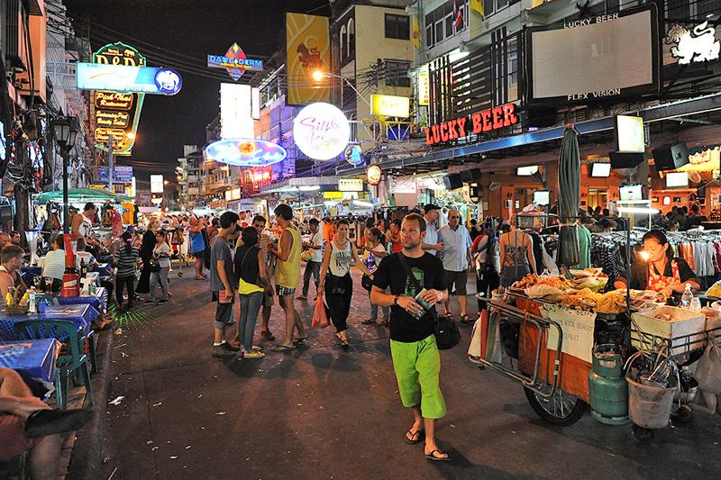 רחוב קאו-סאן בבנגקוק