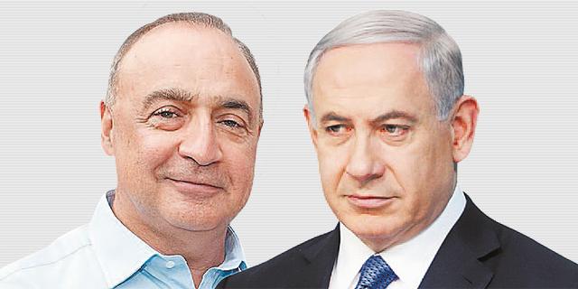 מימין: ראש הממשלה בנימין נתניהו ולן בלווטניק, בעלי RGE, צילום: אלכס קולומויסקי
