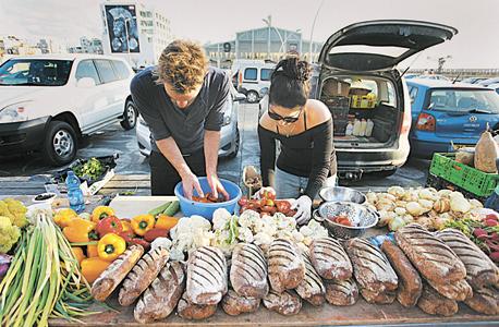 אירוע הדיסקו שנערך בנמל תל אביב. בישול משותף של מזון שנאסף מהפח