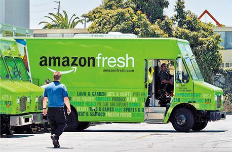 משאית אמזון לשיווק מזון מצונן, צילום: אמזון