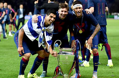ניימאר מסי סוארס גביע האלופות צ'מפיונס ליג, צילום: גטי אימג'ס