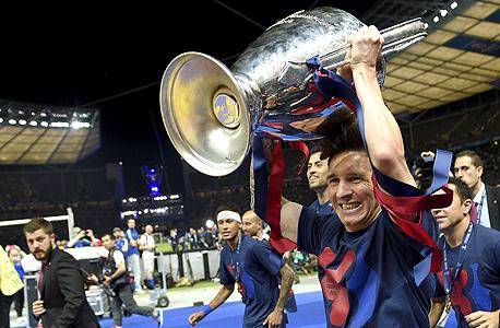 ליאו מסי גביע ליגת האלופות ברצלונה, צילום: איי אף פי