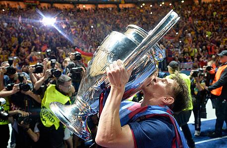 ליאו מסי שחקן ברצלונה גביע אירופה לאלופות, צילום: איי פי