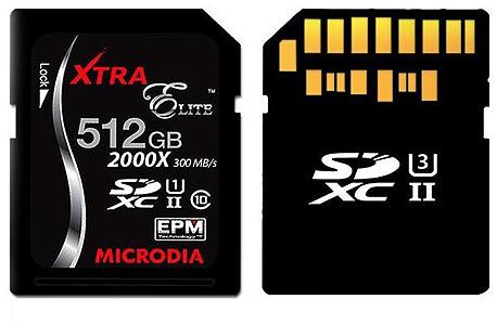 כרטיספלצת: הוצג כרטיס מיקרו SD של 512 גיגה-בייט