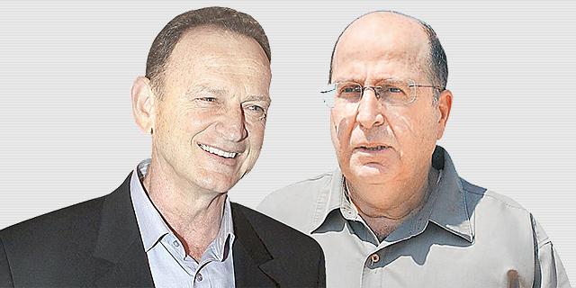 שר הביטחון משה בוגי יעלון (מימין) והאלוף במיל