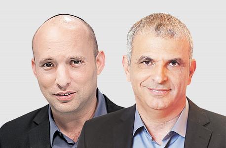 מימין משה כחלון ו נפתלי בנט, צילום: אלעד גרשגורן, אוראל כהן