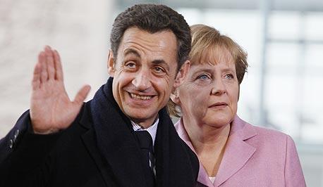 """מרקל וסרקוזי. """"אירופה קורסת, זה ברור"""""""
