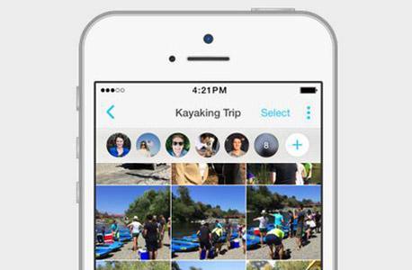 פייסבוק moments סידור תמונות זיהוי פנים