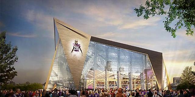 מינסוטה ויקינגס תקבל כ-220 מיליון דולר על חסות שם לאצטדיון החדש שלה