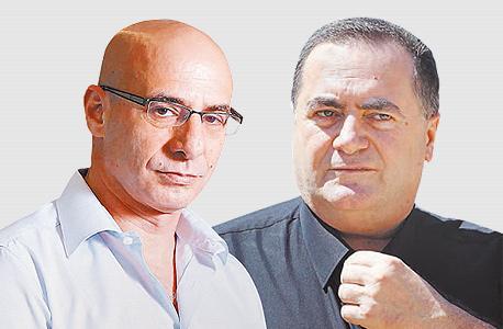 מימין ישראל כץ ו שוקי אורן, צילום: עמית שעל, אוראל כהן