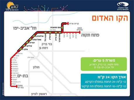 הקו האדום. קו הרכבת הראשון שיפעל בגוש דן