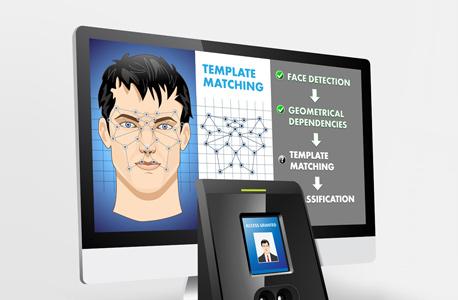 מערכת זיהוי פנים ביומטרי (אילוסטרציה)
