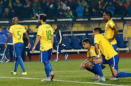 שחקני נבחרת ברזיל. לא תבוסה 7-1 אבל הפסד לא קל לפרגוואי
