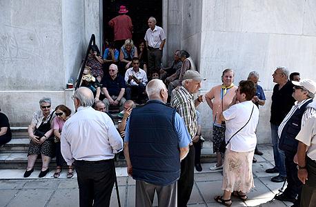 יוון פנסיונרים פנסיה ה משבר ב יוון , צילום: איי פי
