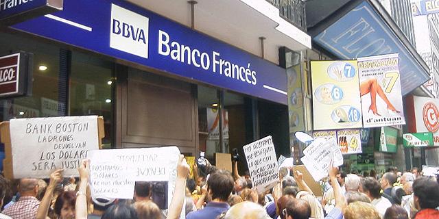 הפגנה בארגנטינה בזמן חדלות הפירעון ב-2002, צילום: ויקיפדיה
