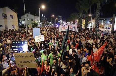 ההפגנה נגד מתווה הגז אתמול