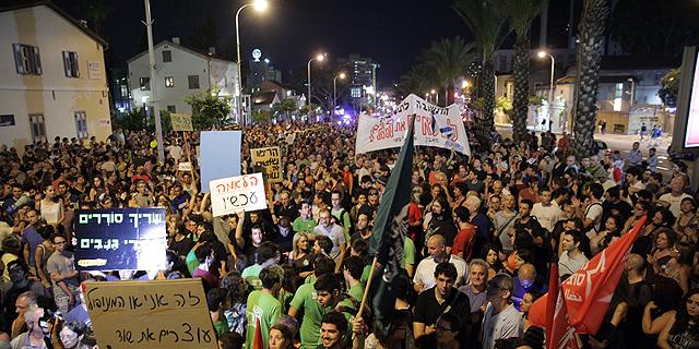 גם השבת: הפגנות  נגד מתווה הגז