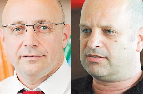 מימין: עורכי הדין אמיר בר טוב וגיא גיסין. מחלוקת קשה על המהלכים בתיק אי.די.בי