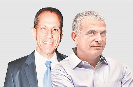 מימין משה כחלון ו שמואל האוזר, צילום: אלעד גרשגורן