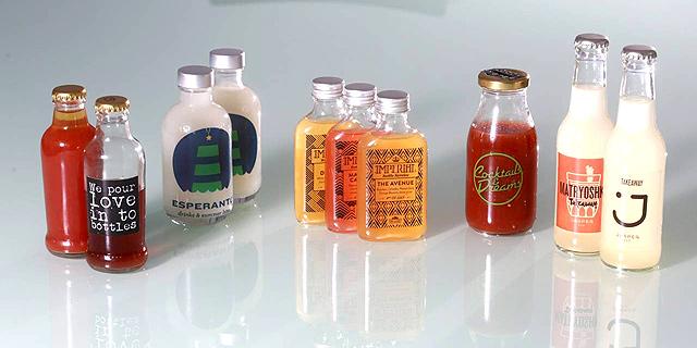 קוקטיילים ישראליים מבוקבקים. משמשים בדרך כלל למשקאות חזקים במיוחד, צילום: תומי הרפז
