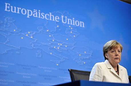 אנגלה מרקל קנצלרית גרמניה ב בריסל יוון , צילום: איי אף פי