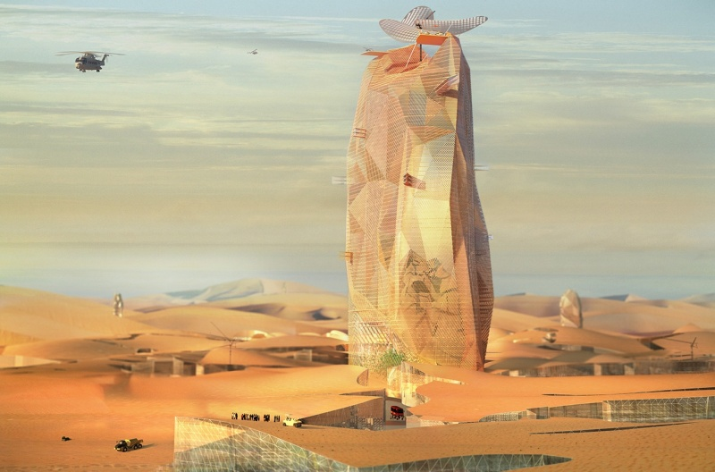 """יתנשא לגובה של 450 מטרים ויהיה בעל שטח של 780 אלף מ""""ר"""