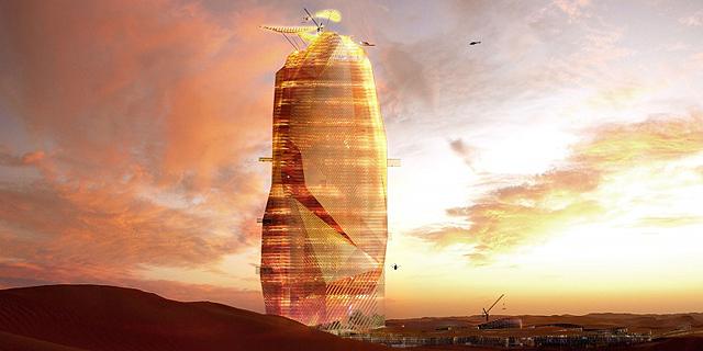 צפו: עיר שלמה במגדל, באמצע המדבר