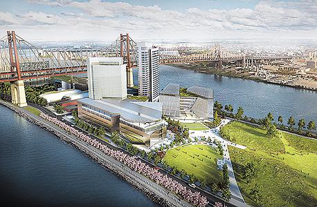 """הדמיה של קורנל־טק בניו יורק. """"זה לא רק גשר בין הטכניון לקורנל. זו אוניברסיטה ישראלית שבאה לעזור כלכלית לניו יורק"""""""