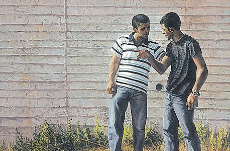 """""""יוסף ושמעון"""" 2010, שמן על בד. """"סיפורי המקרא הם ריכוז חזק מאוד של דילמות שמעסיקות בני אדם ביומיום"""""""