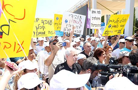 הפגנה ההסתדרות תל אביב, צילום: נמרוד גליקמן