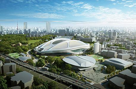 הדמיה של האצטדיון - התוכנית שלא יצאה לפועל, צילום: אי פי איי
