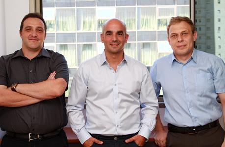 מייסדי WireX: ואדים ליפובצקי, תומר סבן וגלבוע דברה