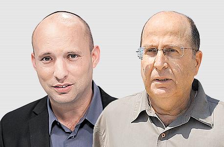 מימין משה יעלון ו נפתלי בנט, צילום: ישראל יוסף, אוראל כהן